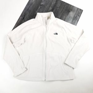 Womens North Face Soft White Pullover Zip Up